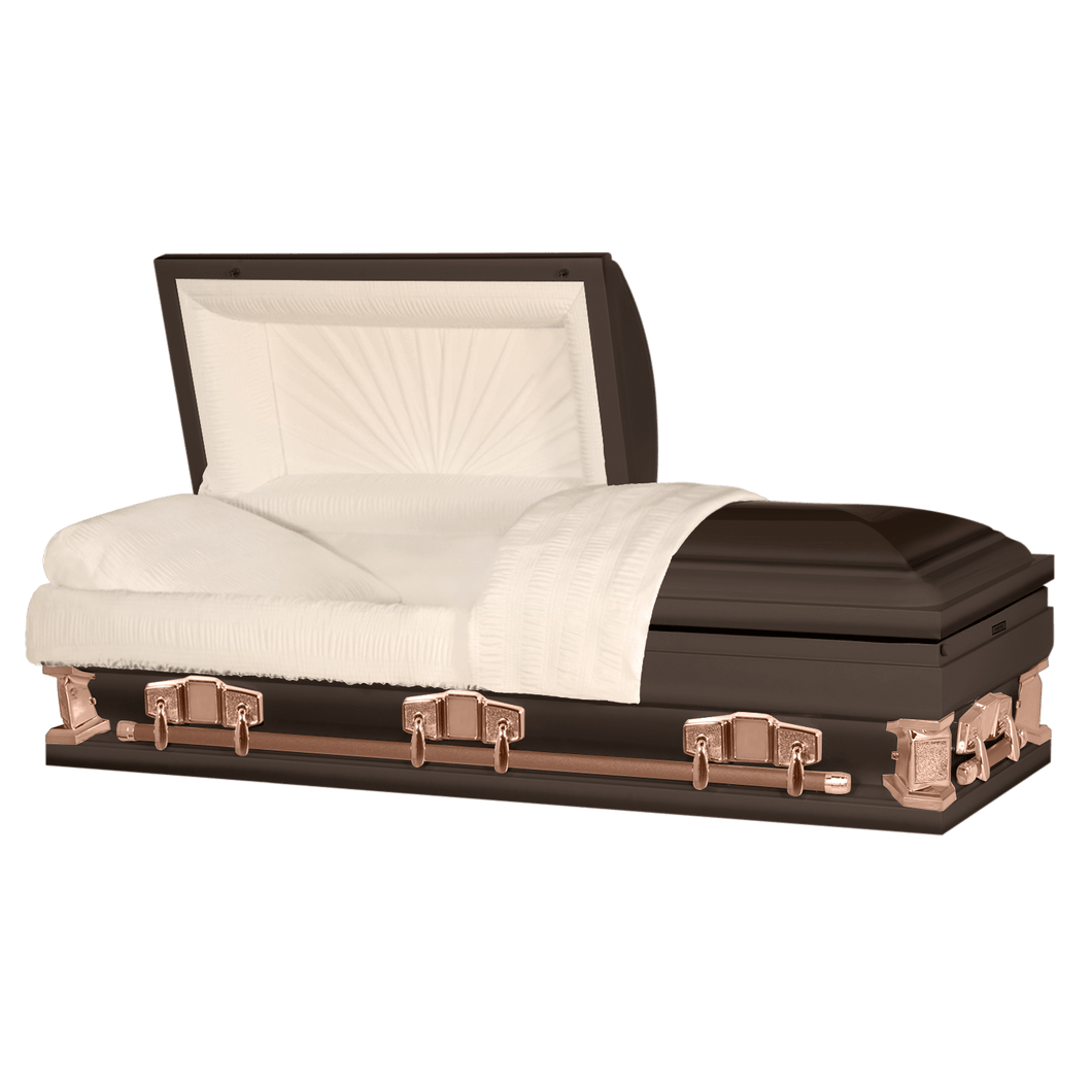 Titan Jupiter XL | Bronze Steel Oversize Casket with Rosetan Interior | 28