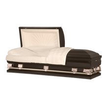 "Load image into Gallery viewer, Titan Atlas XL | Bronze Steel Oversize Casket with Rosetan Interior | 150+ Head Panel Options | 28"", 29"", 33"", 36"", 40"", 44"" - Titan Casket"