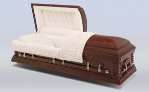 Harbor Caskets - The Harbor Cherry I. Made with cherry hardwood