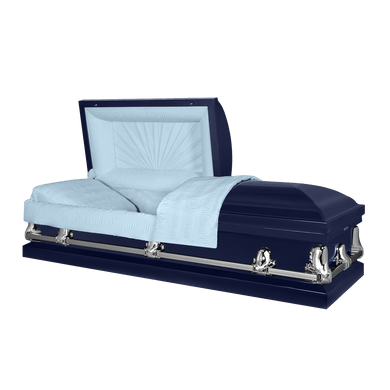 Titan Orion Series | Dark Blue Casket with Light Blue Interior - Titan Casket