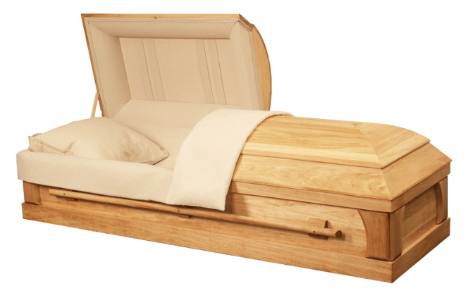 Harbor Caskets - The Harbor Eco III. 100% wood, all wood Casket made from Pine Softwood. Includes wood screws and all natural cotton interior. Eco-Friendly Features - Suitable for Jewish Funerals and Green Cemeteries.