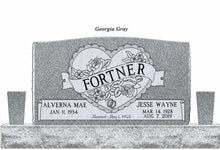 Load image into Gallery viewer, Traditional Shape and Size Companion Monument | Granite - Titan Casket