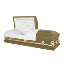 Load image into Gallery viewer, Titan Orion Series | Gold Steel Casket with White Interior - Titan Casket