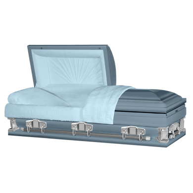 Jupiter XL | Light Blue Steel Oversize Casket with Light Blue Interior | 28