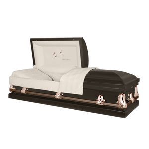 Orion Series | Bronze Steel Casket with Rosetan Interior - Titan Casket