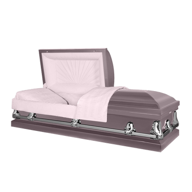 Titan Orion Series | Orchid Steel Casket with Pink Interior - Titan Casket