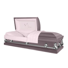 Load image into Gallery viewer, Titan Orion Series | Orchid Steel Casket with Pink Interior - Titan Casket