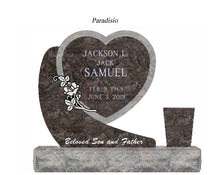 Load image into Gallery viewer, Rustic Hanging Heart Monument | Granite - Titan Casket