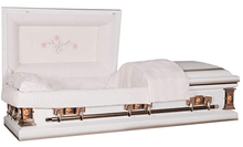 Titan Casket Paris Rose Steel Mother Matriarch Casket Reverse Main