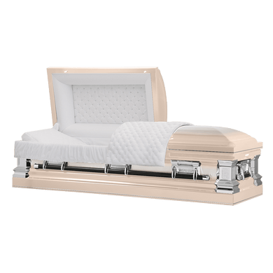 Titan Era Series | Pink Stainless Steel Casket with White Interior - Titan Casket