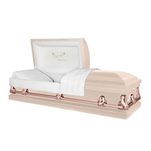 Load image into Gallery viewer, Titan Orion Series | Pink & Rose Gold Steel Casket with White Interior - Titan Casket