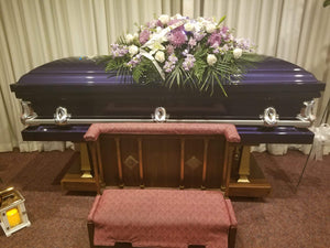 Orion Series | Royal Purple Steel Casket with White Interior - Titan Casket