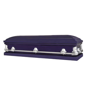 Titan Orion Series | Royal Purple Steel Casket with White Interior - Titan Casket
