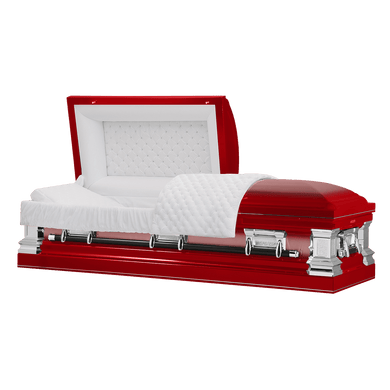 Titan Era Series Stainless Steel Casket Red $1999