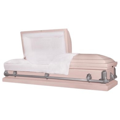 Andover Series | Pink Steel Casket with White Interior - Titan Casket