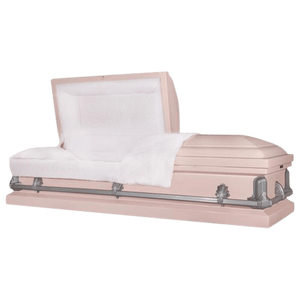 Titan Andover Series | Pink Steel Casket with White Interior
