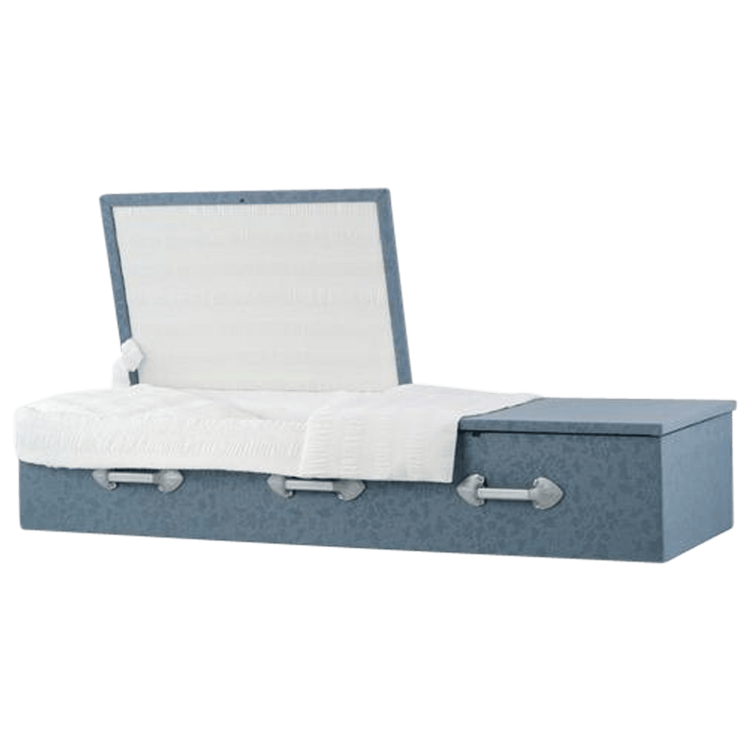 Titan Cloth-Covered Casket | Flat Top - Titan Casket