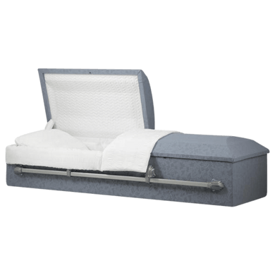 Titan Cloth-Covered Casket | Rounded Top - Titan Casket