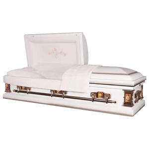 Titan Paris Rose | White Steel Casket with Pink Interior - Titan Casket