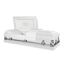 Load image into Gallery viewer, Titan Orion Series | White Steel Casket with White Interior - Titan Casket