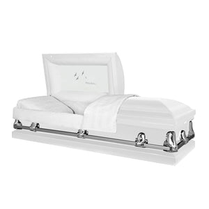 Titan Orion Series | White Steel Casket with White Interior - Titan Casket