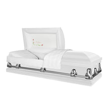 Load image into Gallery viewer, Orion Series | White Steel Casket with White Interior - Titan Casket