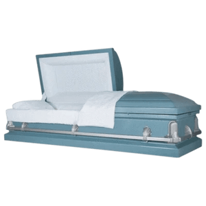 Andover Series | Light Blue Steel Casket with Light Blue Interior - Titan Casket