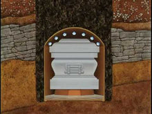 Load and play video in Gallery viewer, Standard Series Burial Vault | White Rose Steel | 12-Gauge