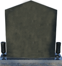 Fully customizable premium rooftop monument headstone for grave site made by Katzman Monument Company