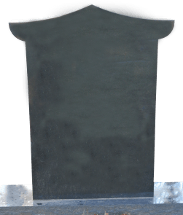 Fully customizable premium pagoda top monument headstone for grave site produced by Katzman Monument Company