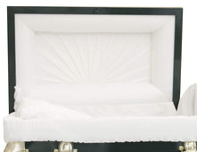 Load image into Gallery viewer, Titan Orion Series | Hunter Green Steel Burial Casket with White Interior - Titan Casket