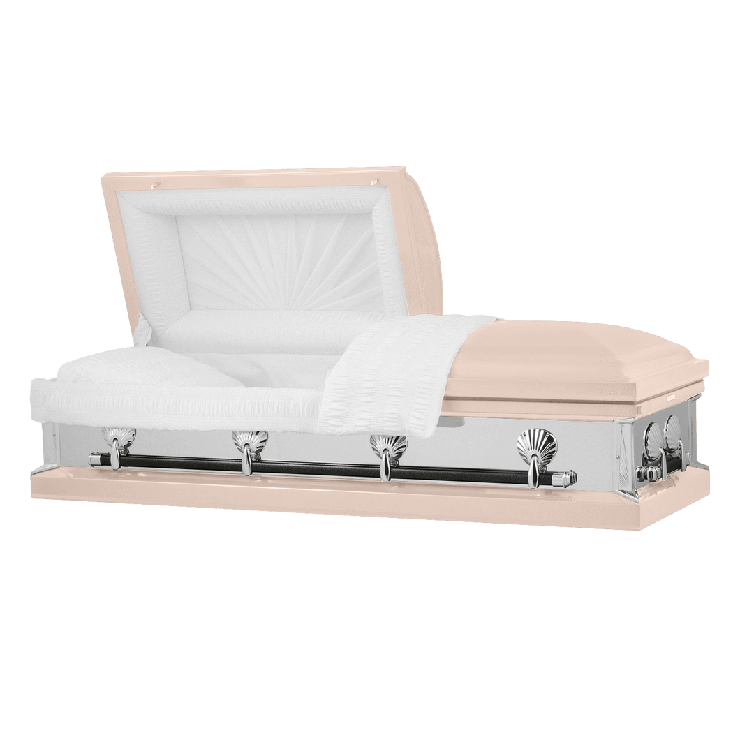 Titan Reflections Series | Pink Steel Casket with White Interior - Titan Casket