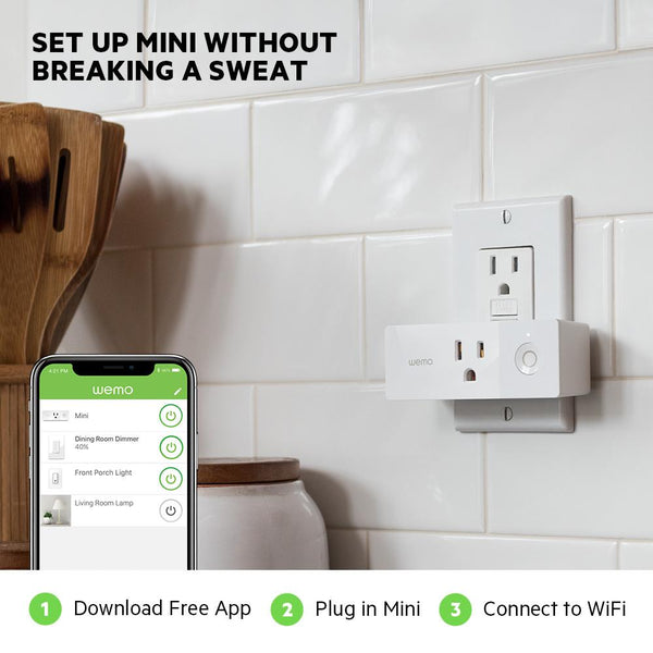 Wemo Mini Wi-Fi Smart Plug image 15232562102321