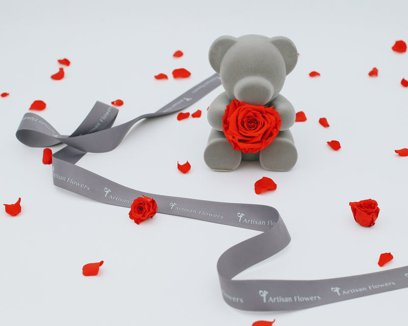 Forever Roses w/ Honey Teddy | Love Collection