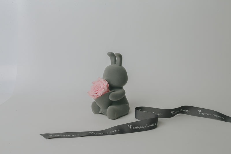 Bunny Music Box w/ Preserved Rose