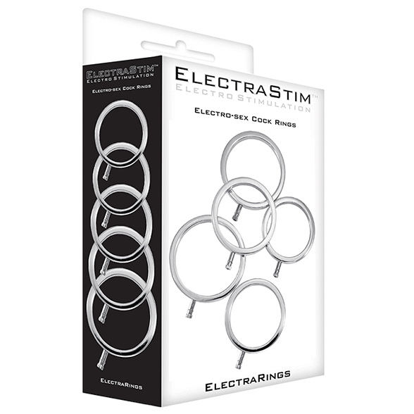 ElectraRings Solid Metal Cock Rings (5 pack) - ElectraStim Official