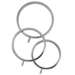 ElectraRings Solid Metal Scrotal Rings (3 pack) - ElectraStim Official