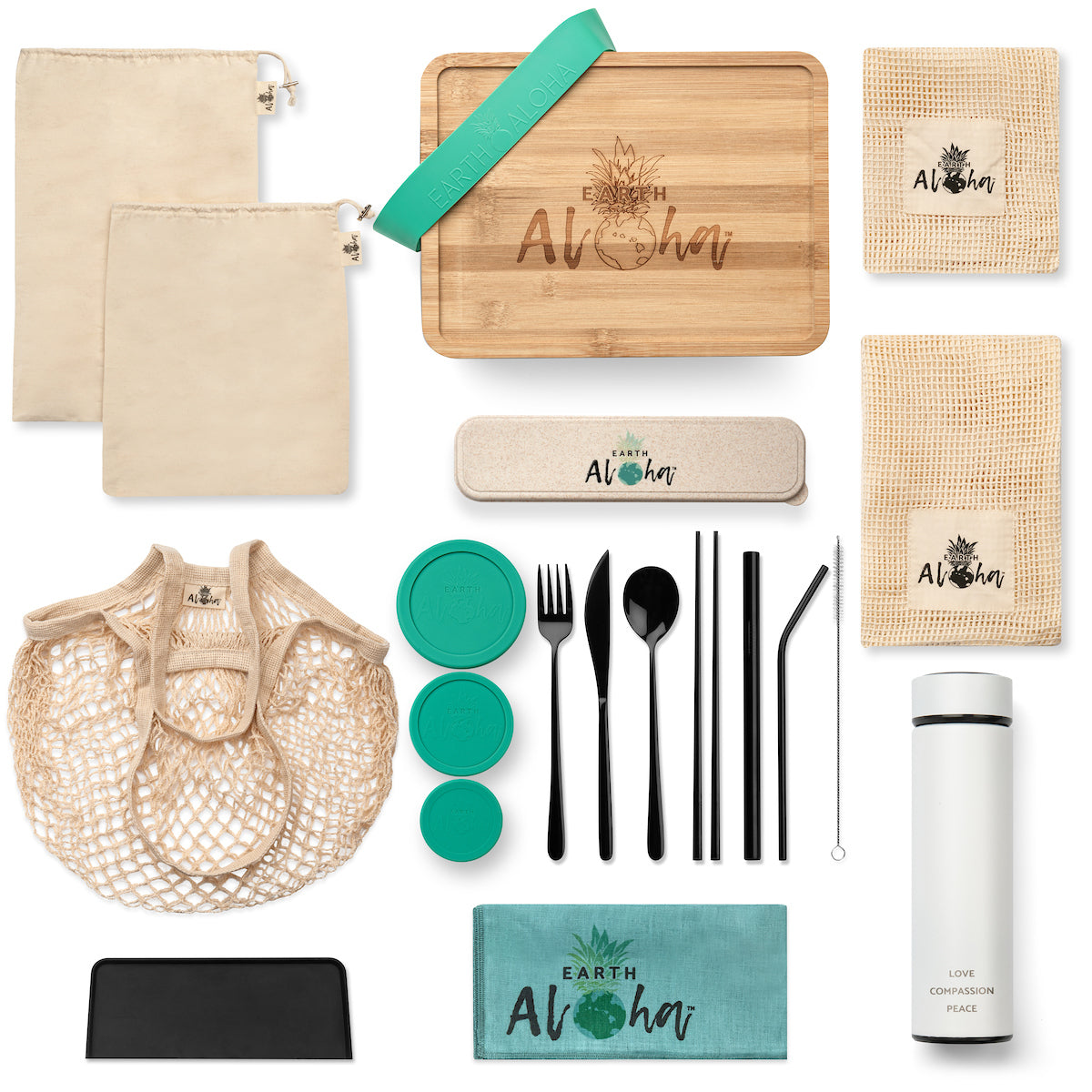 Zero Waste Bamboo Lunch Kit (20 pieces) www.earth-aloha.com
