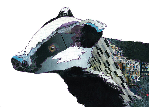 CK0104 'Badger' Greetings Card (packed in 6's)