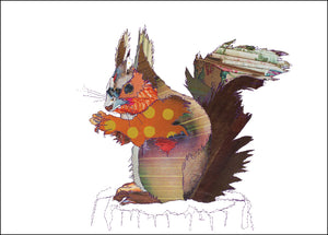 PCK0108 SQUIRREL - Hand Signed Giclée Print
