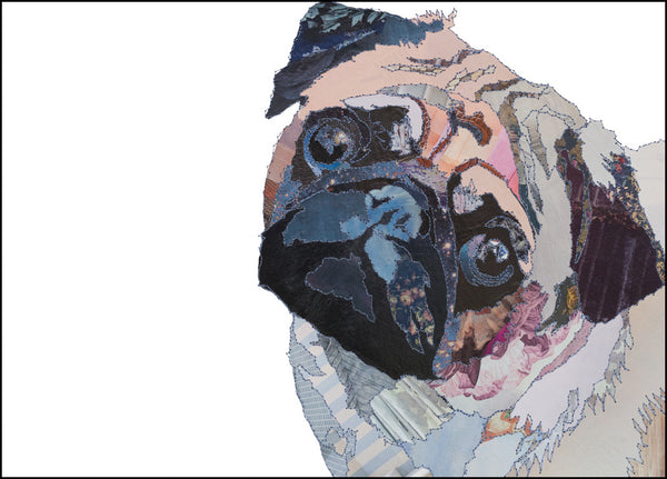 CK0138 'Pug' Greetings Card (packed in 6's)