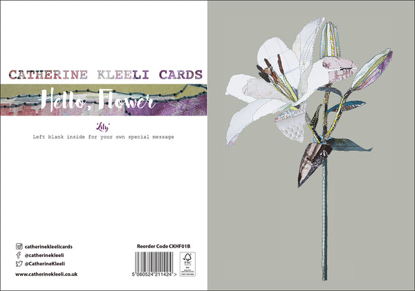 CKHF01B 'Lily' Greetings Card (packed in 6's)