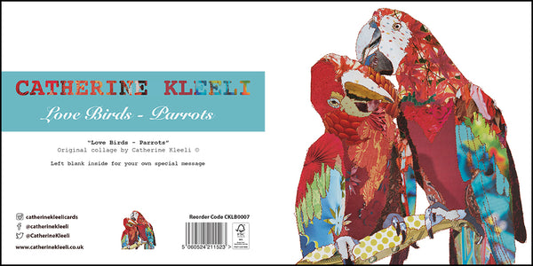 CKLB0007 'Parrots' Greetings Card (packed in 6's)