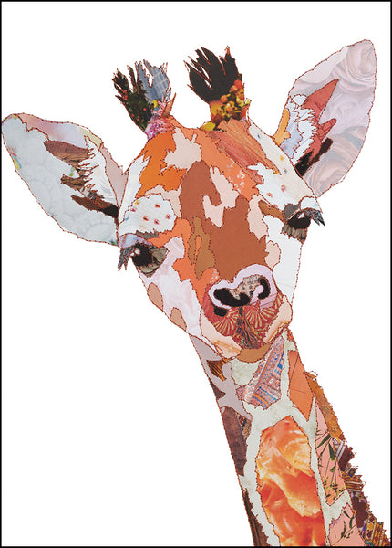 CKMB10 'Baby Giraffe' Greetings Card (packed in 6's)