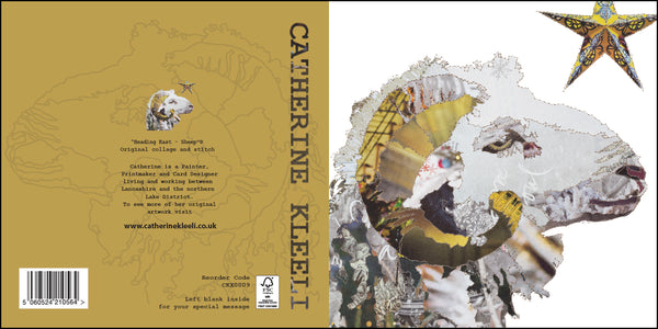 CKX009 'Sheep Heading East' Greetings Card (packed in 6's)