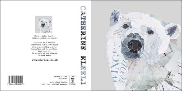 CKX0015 'White Polar Bear' Greetings Card (packed in 6's)