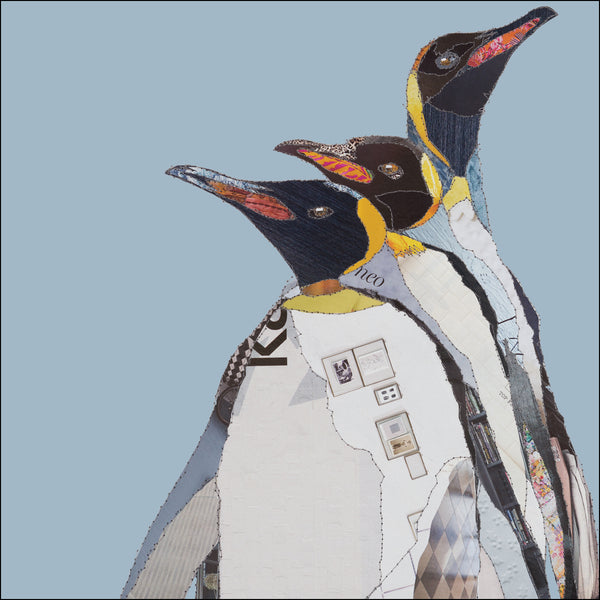 CKX018 'White Penguins' Greetings Card (packed in 6's)