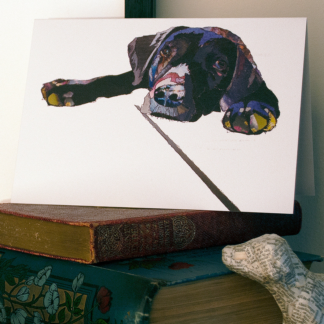 CK0105 'Black Labrador' Greetings Card (packed in 6's)