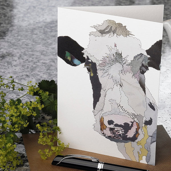 CK0125 'Morning Moo' Greetings Card (packed in 6's)