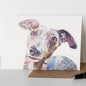 CK0139 'Whippet' Greetings Card (packed in 6's)